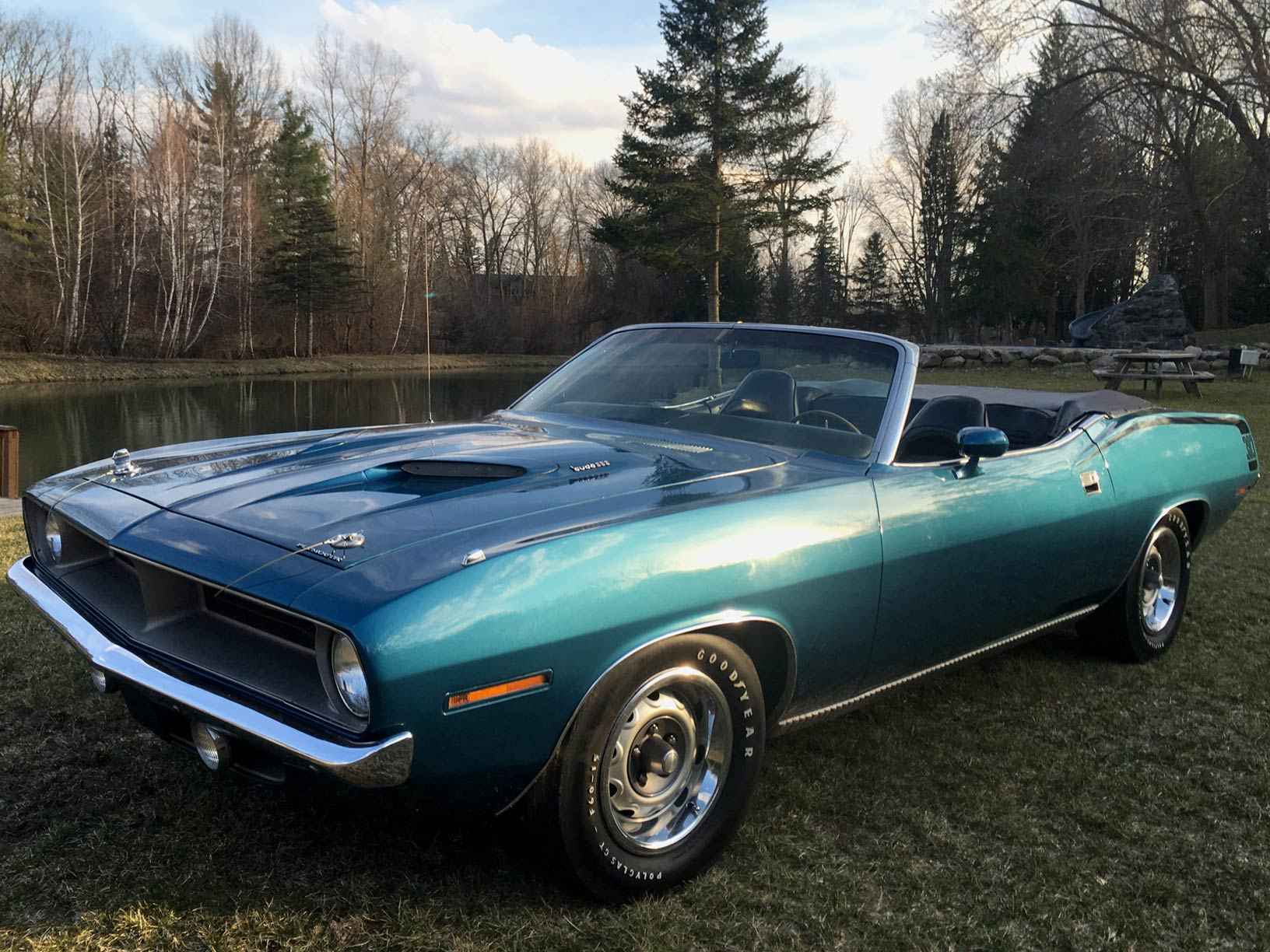 1970 Plymouth Cuda Convertible B7 Blue, 383 Rallye Dash Restored